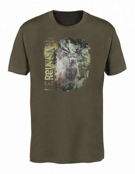 Percussion Siebdruck T-Shirt Hirsch/Wildschwein